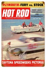 Retro Hot Rod Magazine Daytona Metal Sign