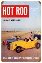 Vintage Hot Rod Magazine Drag Strips Metal Sign