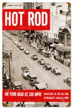 Retro Hot Rod Magazine NYC Roadsters Tin Sign