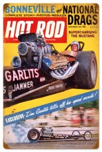 Vintage Hot Rod Magazine Garlits November 1964 Metal Sign