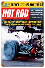 Retro Hot Rod Magazine Garlits May 1963 Tin Sign