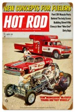 Vintage Hot Rod Magazine 25781 Tin Sign
