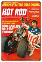 Retro Hot Rod Magazine Garlits May 1971 Metal Sign