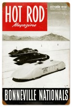 Vintage Hot Rod Magazine Bonneville Nationals Metal Sign