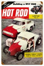 Retro Hot Rod Magazine 19845 Tin Sign