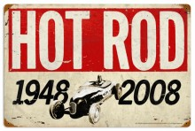 Vintage Hot Rod Magazine 60th Anniversary Metal Sign