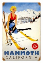 Vintage Ski Mammoth Tin Sign