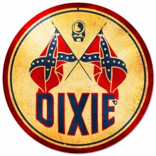 Retro Dixie Gasoline Tin Sign