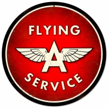 Retro Flying A Service Metal Sign