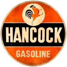 Retro Hancock Old School Tin Sign