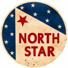 Retro North Star Gasoline Tin Sign