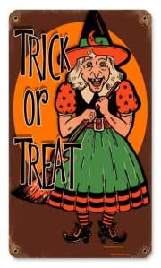 Trick or Treat Tin Sign