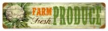 Vintage Fresh Produce Metal Sign