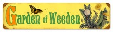 Vintage Garden Weeden Tin Sign