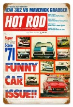 Vintage Funny Cars (Apr. 1971) Metal Sign