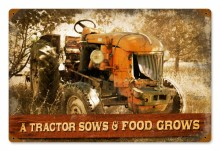 Vintage Tractor Tin Sign