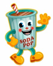 Retro Soda Pop Tin-Metal Sign