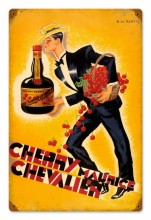 Vintage Cherry Brandy Metal Sign