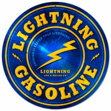 Retro Lightning Gasoline Tin Sign