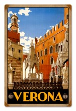 Retro Verona Travel Tin-Metal Sign
