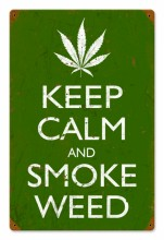 Retro Keep Calm and Smoke Tin-Metal Sign