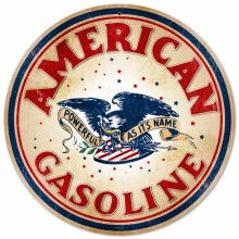 Vintage-Retro American Gasoline Tin-Metal Sign