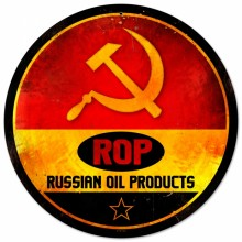 Retro ROP Gasoline Tin-Metal Sign