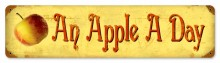 Apple A Day Tin Sign
