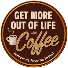 Retro Coffee Tin-Metal Sign LARGE