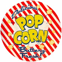 Retro Popcorn Tin-Metal Sign LARGE