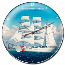Vintage-Retro Coast Guard Wall Clock