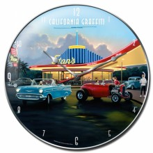 Retro Eat at Stan's Wall Clock