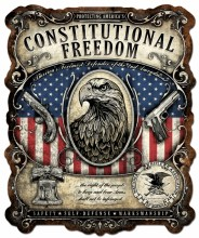 Constitutional Right Metal Sign