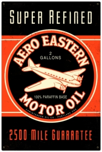 Retro Aero Eastern Metal Sign LARGE