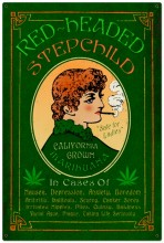 Vintage Red Headed Marijuana Tin Sign LARGE