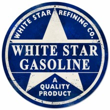White Star Gasoline Sign
