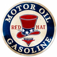 Red Hat Motor Oil Sign