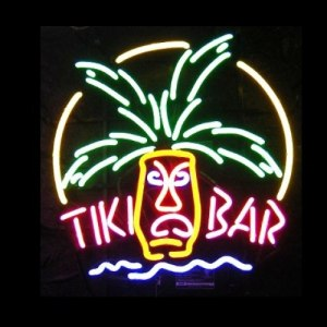 Neon Bar Mask Sign